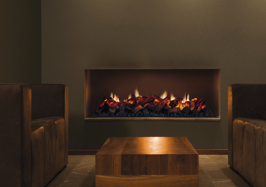 gas wall mounted fireplace
